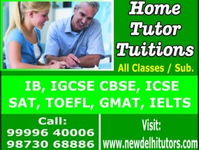 Panchsheel Park Home Tutors 99996 40006 Private Tuition: New Delhi