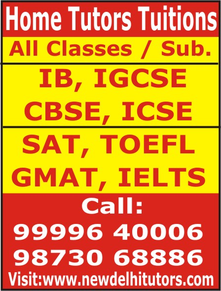 Tutor Tuition Teacher for all classes in New Delhi Gurgaon